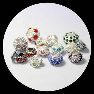Jewelry - Crystal Beads Charms Heart Bracelet Mixed Lot